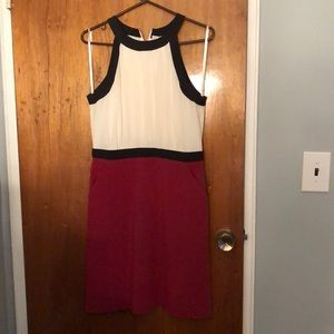 White and red never worn Ann taylor dress